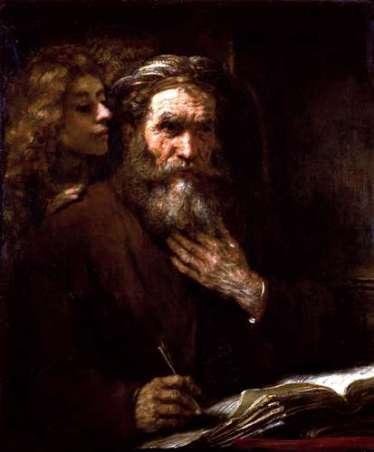 Rembrandt Saint-Matthew-Angel